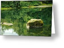Peace By The River Greeting Card