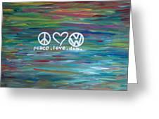 Peace Love Dub Greeting Card