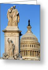 Peace Monument And Capitol Greeting Card