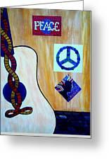 Peace - Music Greeting Card