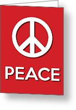 Peace Red Greeting Card