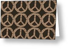 Peace Symbol Collage Greeting Card