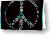 Peace Symbol Design - 87d Greeting Card by Variance Collections