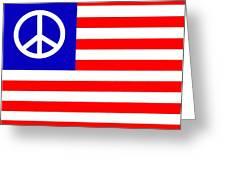 Peace Usa Flag Greeting Card