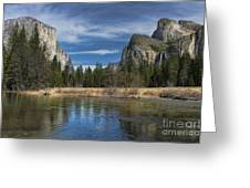 Peaceful Afternoon In Yosemite Greeting Card