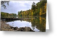 Peaceful Autumn Lake Greeting Card