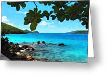 Peaceful Beach St. Thomas Greeting Card