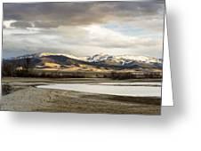 Peaceful Day In Helena Montana Greeting Card
