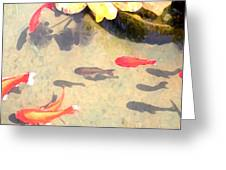 Peaceful Day In The Pond Greeting Card