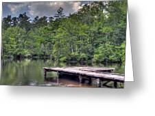Peaceful Dock Greeting Card by David Troxel