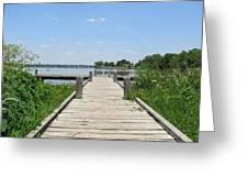 Peaceful Fishing Dock Greeting Card