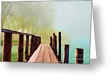Peaceful Foggy Day Greeting Card