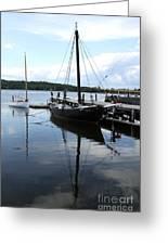 Peaceful Harbor Scene - Ct Greeting Card
