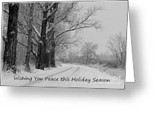 Peaceful Holiday Card Greeting Card