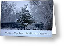 Peaceful Holiday Card - Winter Landscape Greeting Card
