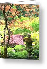 Peaceful Japanese Garden Greeting Card