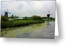 Peaceful Kinderdijk Greeting Card