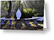 Peaceful Place To Pray With Mary Greeting Card