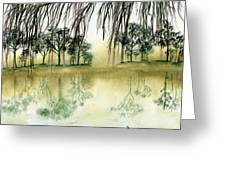 Peaceful Reflection Greeting Card by Diane Ferron