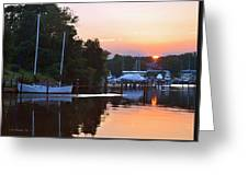 Peaceful Sunset Greeting Card