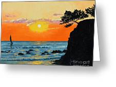 Peaceful Sunset Greeting Card