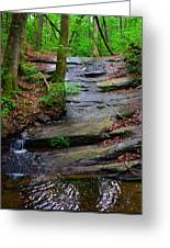 Peaceful Waterfall Greeting Card