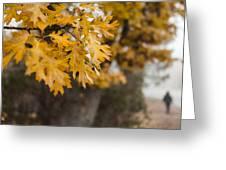 Peacefull Fall Walk Greeting Card