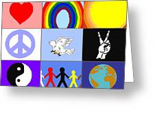 peaceloveunity Mosaic Greeting Card