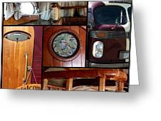 Peacemaker Bus Collage Greeting Card