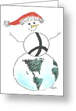 Peacemaker Snowman Greeting Card