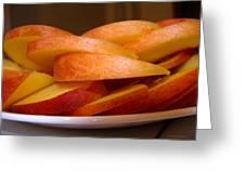Peach Slices Greeting Card
