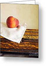 Peach Still Life Greeting Card