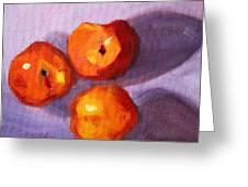 Peach Trio Greeting Card