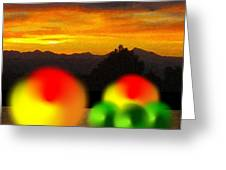 Peaches And Limes On A Colorado Mountain Top Greeting Card