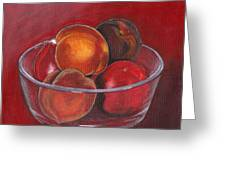Peaches And Nectarines Greeting Card