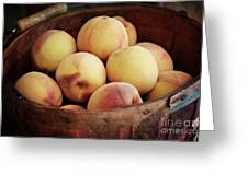 Peaches In A Basket Greeting Card