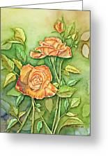 Autumn Roses Greeting Card