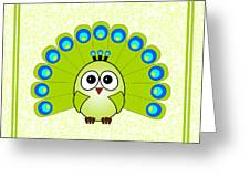 Peacock  - Birds - Art For Kids Greeting Card