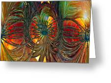 Peacock City Of Abstract Fx  Greeting Card