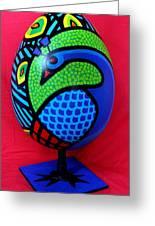 Peacock Egg Greeting Card