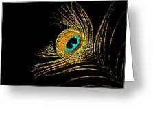 Peacock Feathers 7 Greeting Card