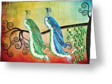Peacock Love Greeting Card