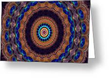 Peacock Pinwheel Greeting Card