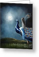 Peacock Princess By Shawna Erback Greeting Card