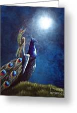 Peacock Princess II By Shawna Erback Greeting Card