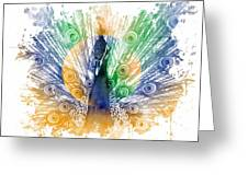 Peacock Splash Greeting Card