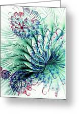 Peacock Tail Greeting Card