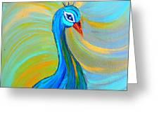 Peacock Vii Greeting Card