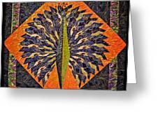 Peacock Yoga  Greeting Card