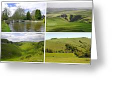 Peak District Collage 01-labelled Greeting Card